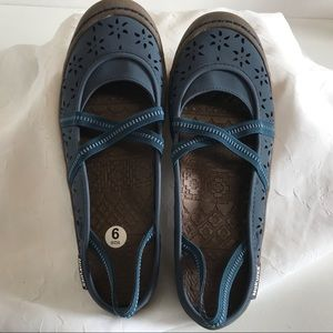 Muk Luks Shoe 9 Erin Slide Sling Back Flat Comfort